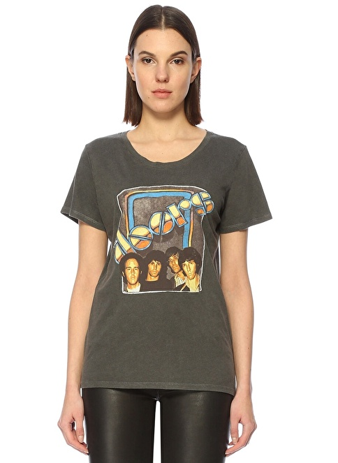 Daydreamer The Doors Baskılı Tişört Gri